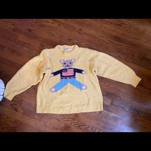 VINTAGE House of Harris Patriotic Bear Sweater